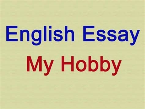 Short English Essays  Essay About Healthy Lifestyle also Science And Society Essay My Hobby Essay In English Easy How To Write A Synthesis Essay